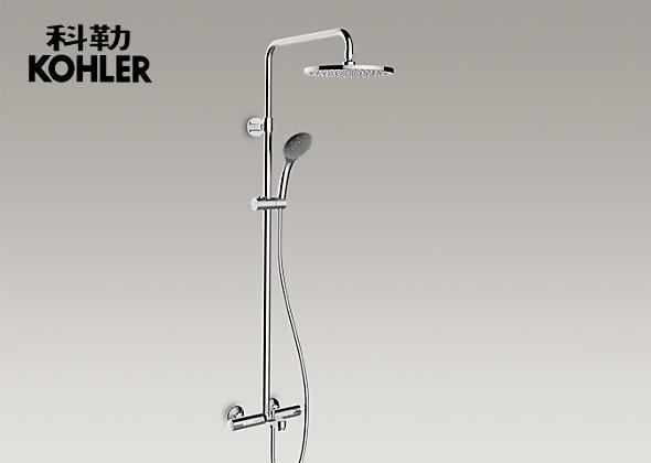 科勒卫浴 齐悦恒温三出水淋浴柱(硬管连接)