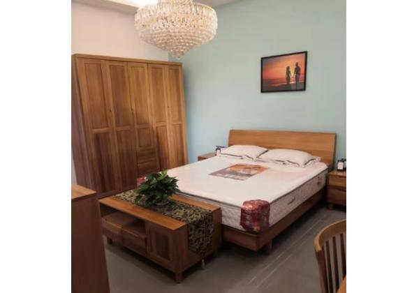 木缘家具 樱桃木卧室四件套
