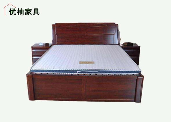 优柚实木床+床头柜