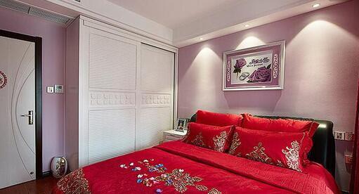 100平两室两厅婚房装修案例